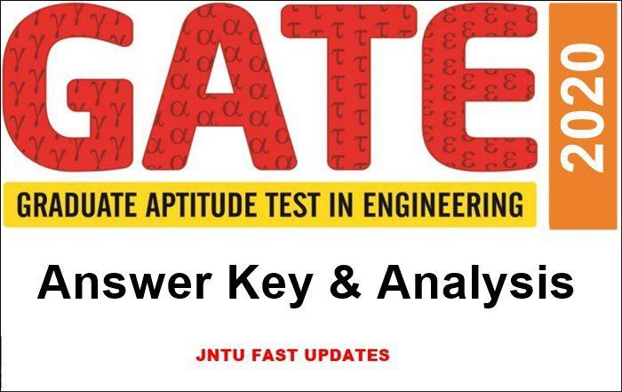 gate 2020 answer key-analysis