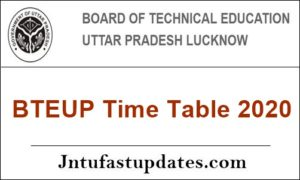 BTEUP-Time-Table-2020