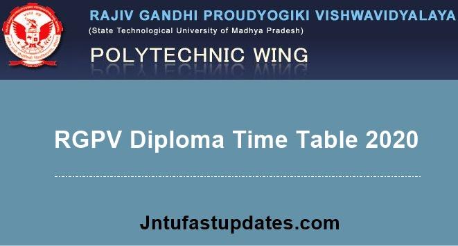 RGPV-Diploma-time-table-2020