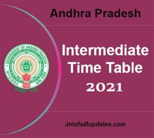 AP Inter Time table 2021