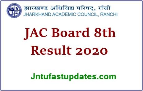 JAC Board 8th result 2020