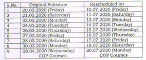 anu reschedule dates 2020
