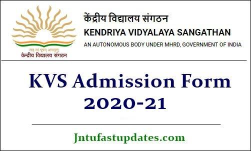 KVS Admission 2020-21 Apply Online