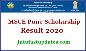 Pune Scholarship Result 2020