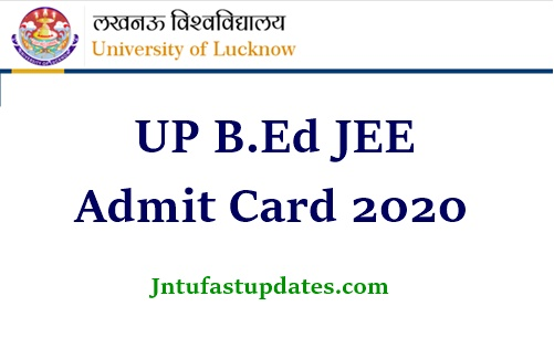 UP B.Ed JEE Admit Card 2020