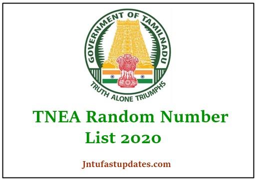 TNEA Random Number 2020