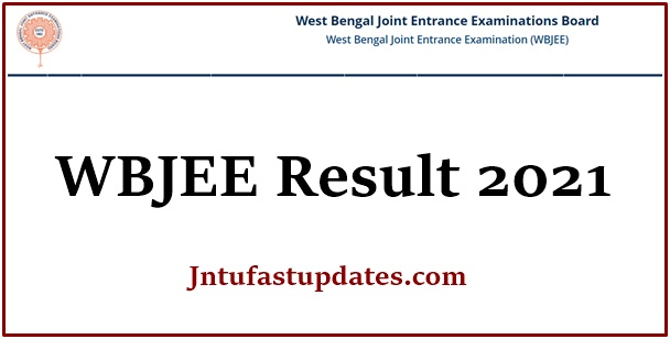 WBJEE Results 2021