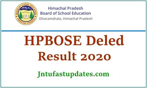 HPBOSE D.El.Ed CET Result 2020