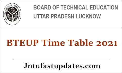 BTEUP Time table 2021