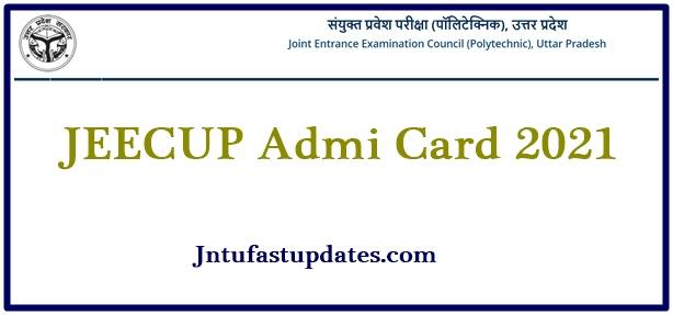 JEECUP Admit Card 2021