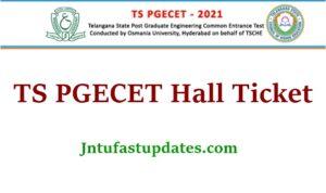 TS PGECET Hall Ticket 2021
