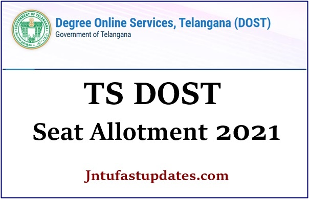 TS DOST Seat Allotment 2021