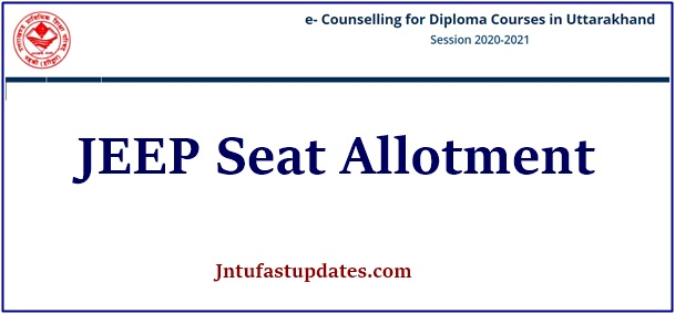 UBTER JEEP Seat Allotment 2020