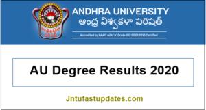 au degree results 2020