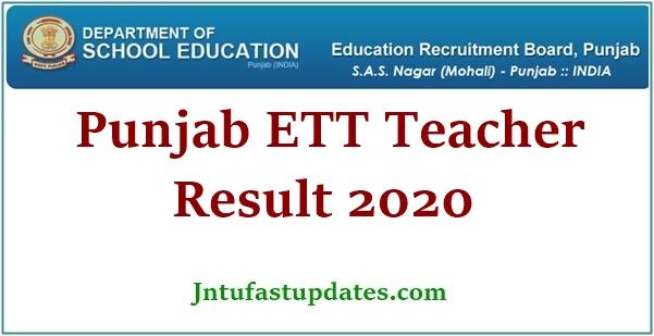 Punjab ETT Teacher Result 2020