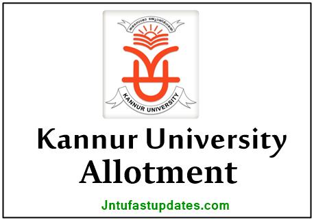 Kannur University Degree First Allotment 2021