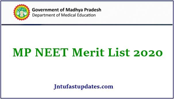 MP NEET Merit List