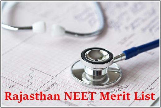 Rajasthan Neet Merit List 2020