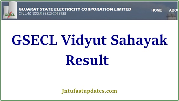 GSECL Vidyut Sahayak Result 2020