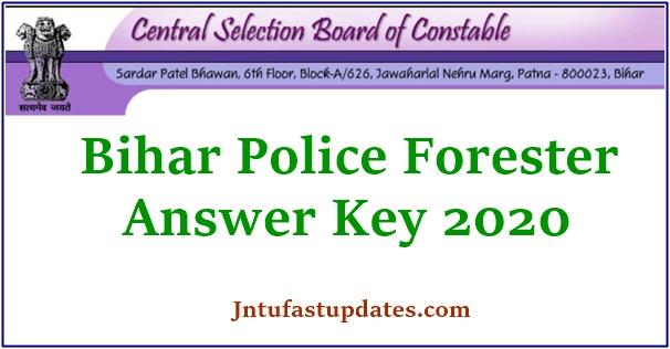 Bihar Police Forester Answer key 2020