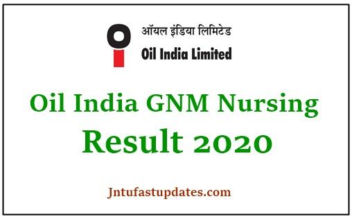 Oil India GNM Nursing Result 2020