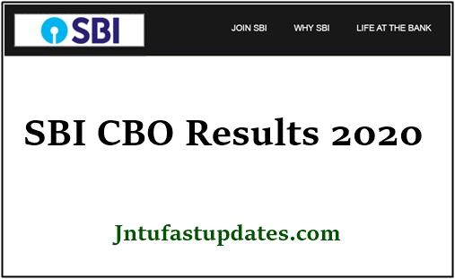 SBI CBO Result 2020