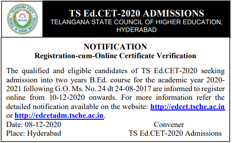 ts edcet counselling dates 2020