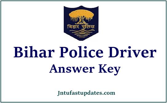 Bihar Police Driver Answer Key 2021