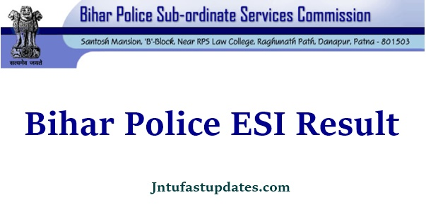 Bihar Police Enforcement SI Result 2021