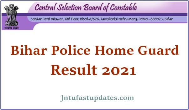 Bihar Police Home Guard Result 2021