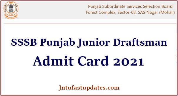 SSSB Punjab Junior Draftsman Admit Card