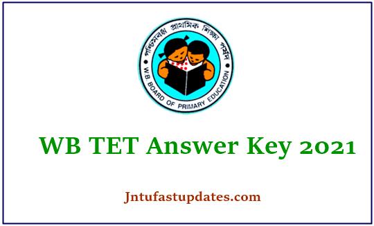 WB TET Answer Key 2021