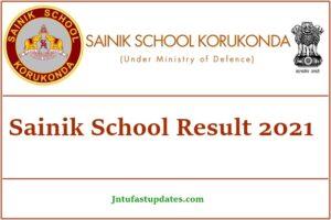 Sainik School Result 2021
