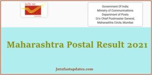 Maharashtra Postal Circle Result 2021