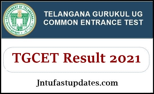 TGCET Results 2021