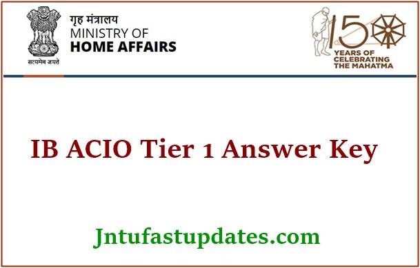 IB ACIO Answer Key 2021
