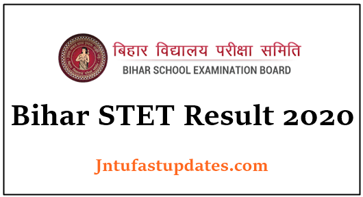 Bihar STET Result 2021