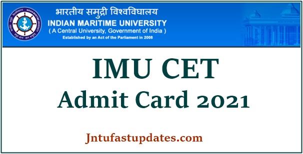 IMU CET Admit Card 2021