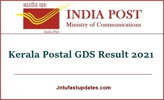 Kerala Postal GDS Result 2021