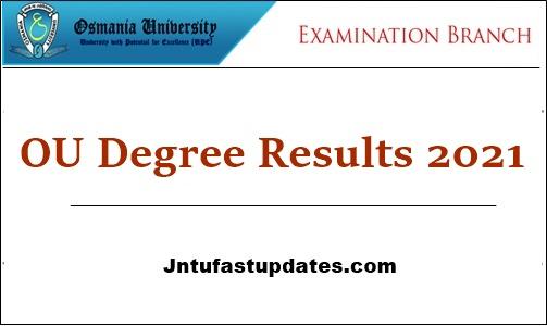OU Degree Results 2021