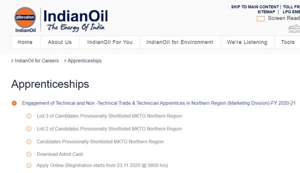 IOCL WR Apprentice Result 2021