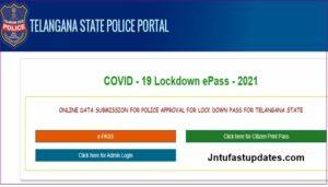 TS Police E Pass Application