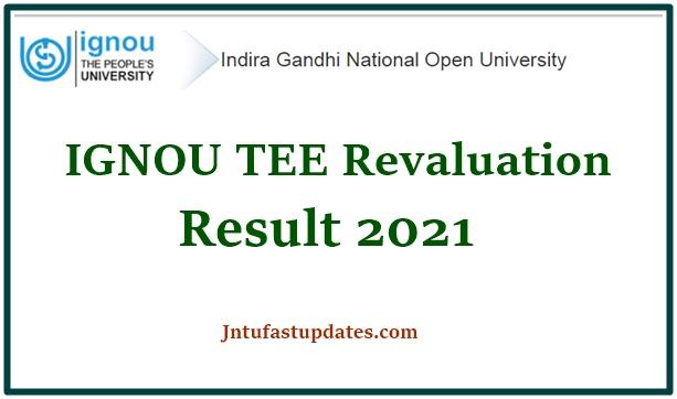 IGNOU Revaluation Result 2021