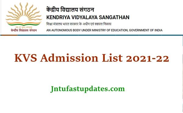 KVS Admission List 2021
