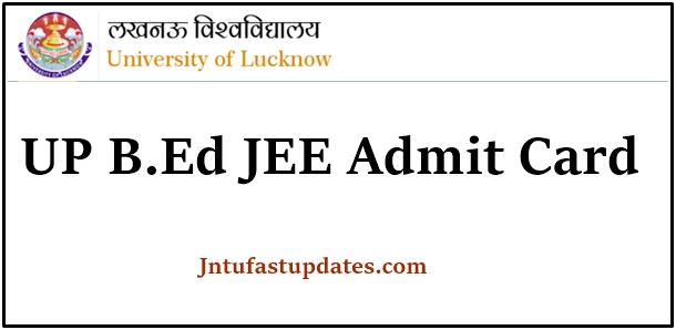 UP B.Ed JEE Admit Card 2021
