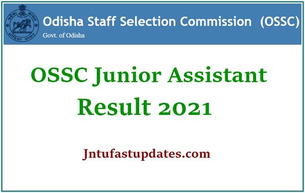 OSSC Junior Assistant Prelims Result 2021