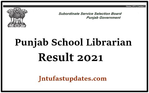 Punjab School Librarian Result 2021