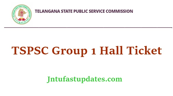 TSPSC Group 1 Hall Ticket 2021