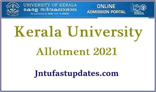 Kerala University Degree First Allotment 2021