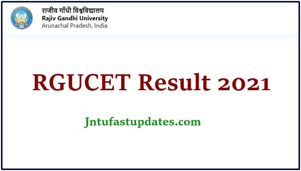 RGUCET Result 2021